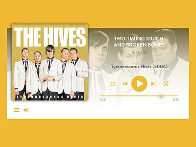 #009 Music Player hives musicplayer dailyui 009 dailyuichallenge