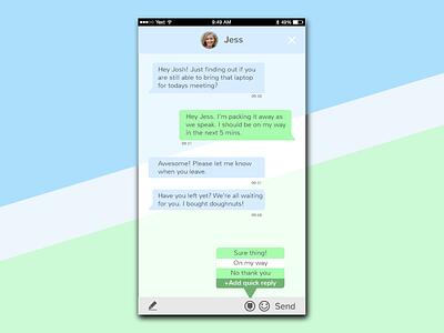 #013 Direct Messaging directmessaging dailyui 013 dailyuichallenge