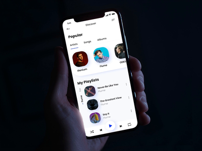 Music Player - UI Interaction user inteface player music player music mobile ux mobile ui mobile minimal interaction flat ux ui design daily application app design app animation adobe xd adobe