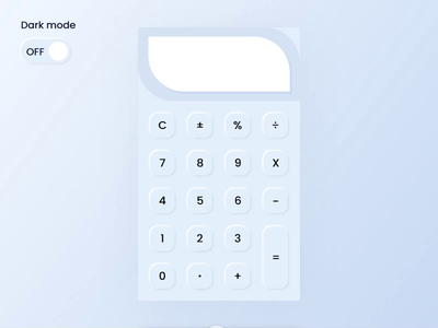 Calculator Interaction - Neumorphic UI Design neumorph neumorphism neumorphic soft soft ui calculator ui daily ux adobe xd animation interaction app flat minimal mobile mobile ux user interface application