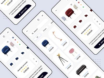 Furniture Store - App design shopping app store app minimalist online shop store furniture xd adobe minimal flat design app design mobile daily ux animation application ui app