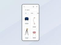 Furniture Store - App design interaction.