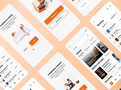Book Lovers App interaction redesign bookshop books lovers book aplikacja lubimy lubimyczytac design minimal flat app design daily mobile ux animation application ui app