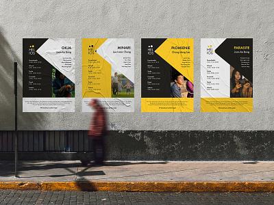 Helios Polska — Rebranding concept concept post instagram id card billboard identity brand mark visual identity rebranding poster helios cinema graphic design logotype logo design branding
