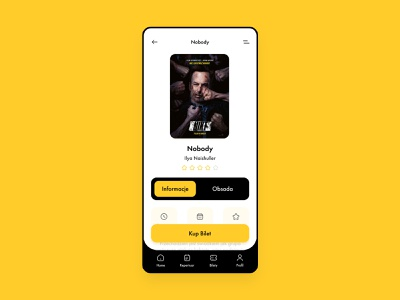 Cinema App 🎥 ticket yellow graphic design checkout cinema polska kino helios branding mobile design application ux animation app ui