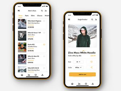 Mobile app - Fashion E-commerce clothes fashion shop e-comerce store ux ui mobile design mobile ui mobile app design mobile app app design application app mobile