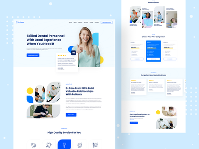 Dentist Clinic Landing Page dental clinic healthcare landing doctor app healthcare app medical website doctor website dental landing dental website design dentist clinic digital agency clean web design landing page website design animation najmul website popular shot visual design minimal