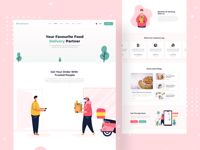 Food Delivery Service - About Page delivery service healthy food food website food delivery app order payment groceries delivery website restaurant food delivery service food delivery website design web design landing page animation website popular shot visual design minimal najmul