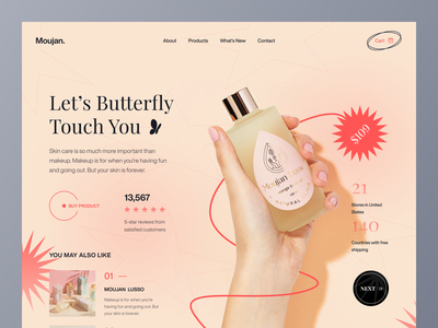 Beauty Product - E-Commerce Landing Page header exploration ux ui inspiration shopping app shop beauty product shopify shopping cart e-commerce app minimal design website design web design najmul typography landing page website popular shot visual design