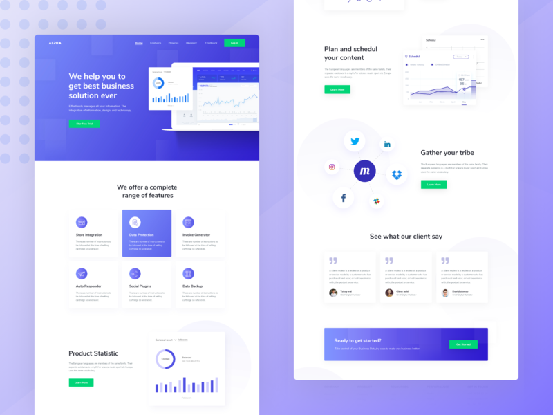 Landing Page of SaaS landing page website design 2019 2018 moderndesign landing page design webapp design saas landing page software design software development typography branding ui illustration vector minimal app animation ux identity