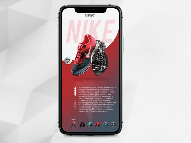 """Shoes App"" UI Design"