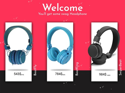 Headphone Website Ad