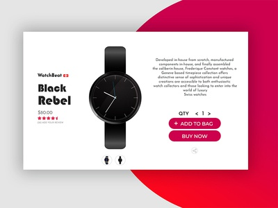 Watch Product Ui
