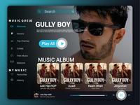 Experiment Music app UI