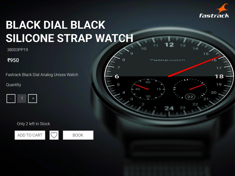 Fastrack Watches Website Concept
