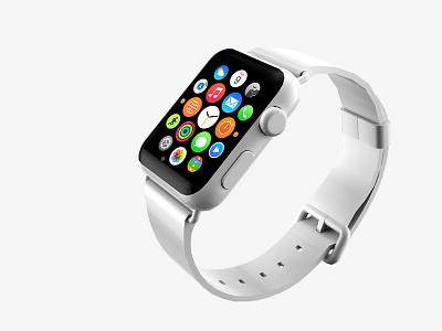 apple watch mockup 2 psd free freebie apple watch mockup white 3d render