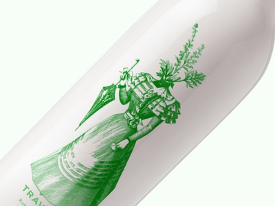 Travarica packaging brandy herb brandy illustration design