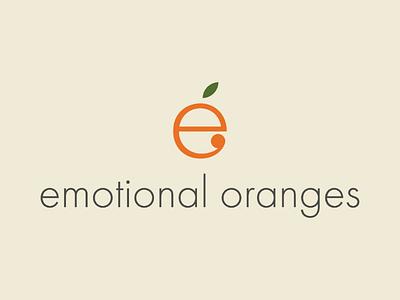 Emotional Oranges fruit green orange modern identity design identity minimalistic branding logo design brand identity brand luxury clean minimal logo
