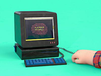 Computer gaming mac computer hand cinema 4d character 3d design