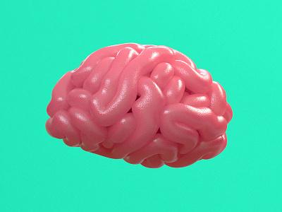 Juicy brain cinema 4d juicy brain character run 3d animation design