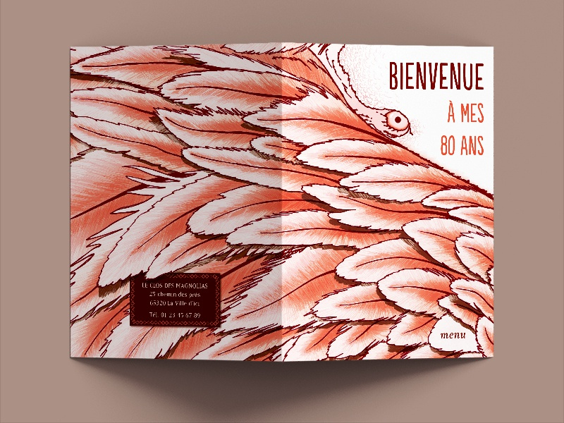 Menu Card To An 80th Birthday Party By Pierrick Boffy Dribbble