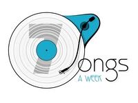 Logo 7 Songs a Week, turntable version
