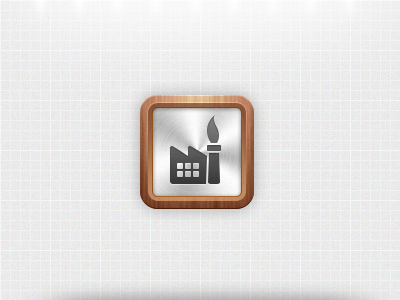 Personal App Icon ios apple iphone icon app application wood metal mobile