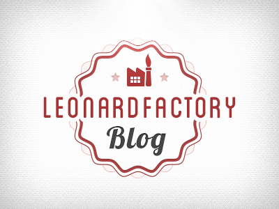 LeonardFactory Blog blog retro vintage typography factory wave logo logotype brand red light