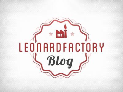 LeonardFactory Blog blog retro vintage typography factory wave logo logotype brand red light
