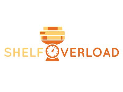 ShelfOverload Logo shelf books overload orange yellow logo icon flat culture 2d illustrator