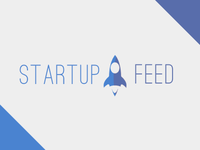 Startup Feed Logo  spaceship startup feed blue violet logo
