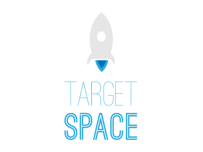 Target Space ios game blue space spaceship platform ostrich sans