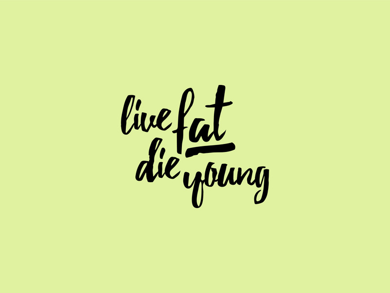 live fat die young vector t-shirt design tee design shirt design shirtdesign print apparel illustration graphic design graphicdesign flat design apparel design apparel