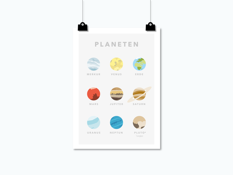 Poster Planeten / SPACE SQUAD wall art universe spaceart solar system poster design planets planet artwork poster art poster minimalistic space inspiration flat design illustration graphic design vector graphicdesign