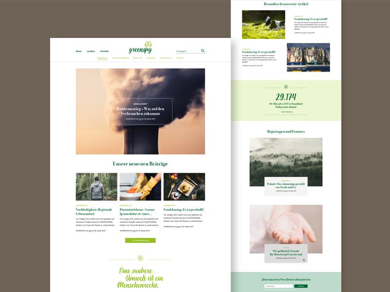 Logo Design and Redesign for Greenspy Blog website design website weblayout logodesign redesign webdesign typography logo design illustration graphic design vector graphicdesign