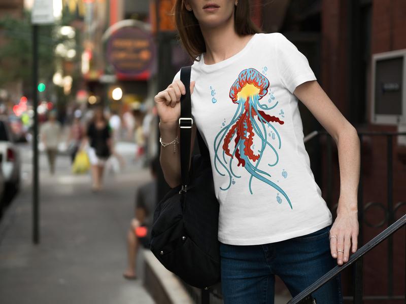 Print Artwork for Hooker Skate – Jellyfish branding brand wall art vector poster design poster inspiration illustration graphicdesign hooker skate designs apparel design apparel jellyfish