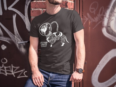 Dachshund astronaut / SPACE SQUAD dachshund print apparel space squad space apparel design apparel inspiration design illustration graphic design graphicdesign vector