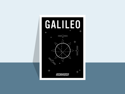 Poster of Galileo-Satellites / SPACE SQUAD navigation earth universe world space week artwork satellites galileo space inspiration design illustration graphic design graphicdesign vector