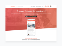 Landing page Viadeo app