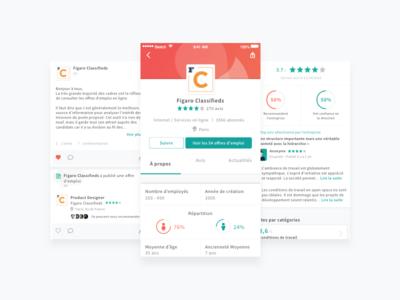 Company page app
