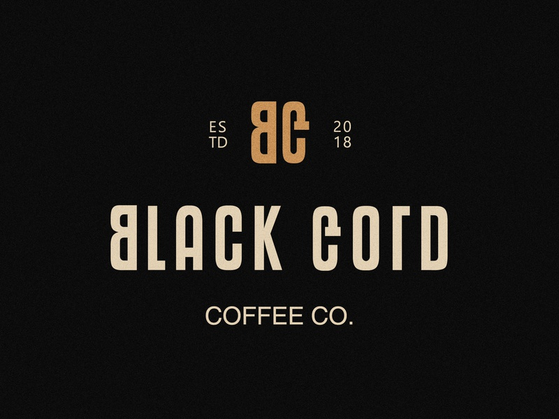 black gold coffee co branding logotype logo coffee shop mug coffee bag coffee branding