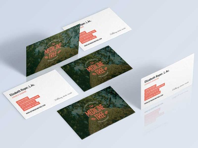 The Medicine Tree Acupuncture Business Cards graphic design print biz cards business cards