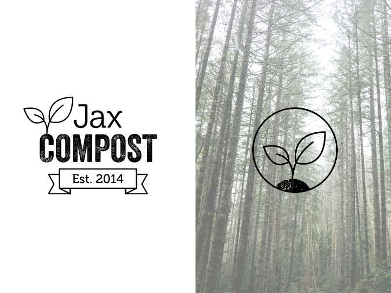 Logo design for Jax Compost jacksonville logo compost