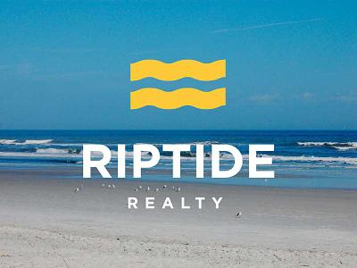 Riptide Realty Logo identity branding logo realty real estate ocean beach