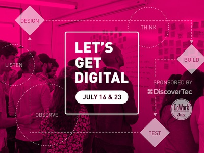 Let's Get Digital Event Identity identity visual design branding design thinking aiga event workshop digital