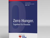 Sodexo Stop Hunger dinner booklet design