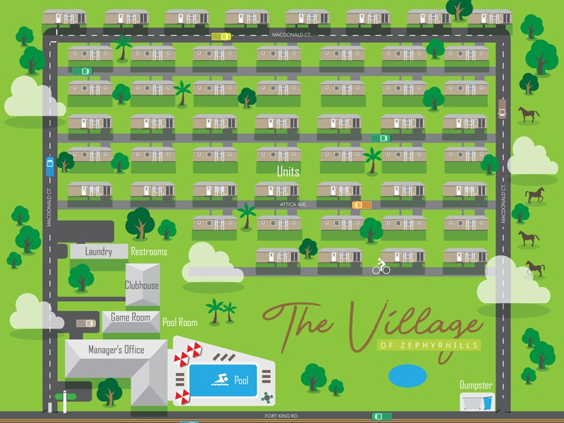 The Village Of Zephyrhills property map infographics infographic illustration graphic design design