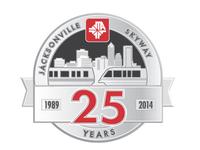 Jacksonville Skyway 25th Anniversary logo