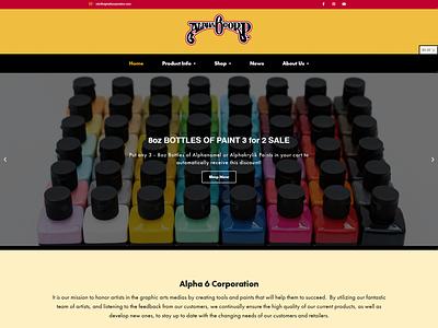 Alpha 6 Website branding logo design ui typography