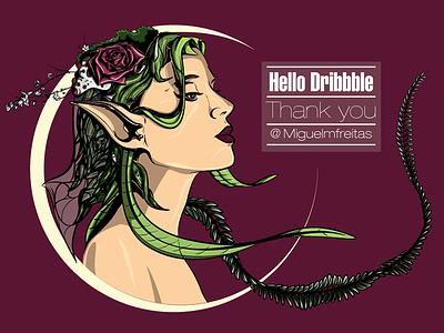 Debut plant rose gaia vector design illustration illustrator character